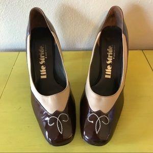 Vintage 60s Patent Leather Spectator Heels Pumps